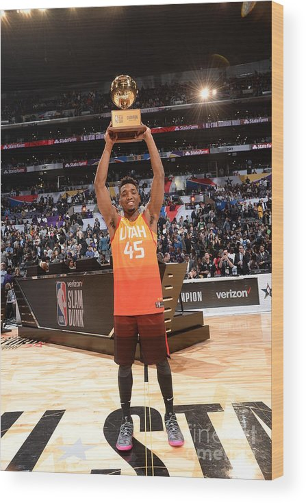 Event Wood Print featuring the photograph Donovan Mitchell by Andrew D. Bernstein