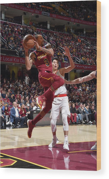 Nba Pro Basketball Wood Print featuring the photograph George Hill by David Liam Kyle