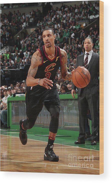Nba Pro Basketball Wood Print featuring the photograph George Hill by Nathaniel S. Butler