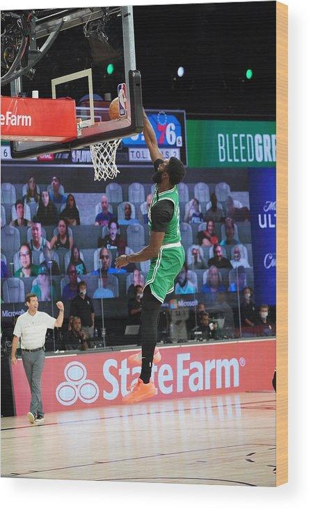 Playoffs Wood Print featuring the photograph Jaylen Brown by Jesse D. Garrabrant