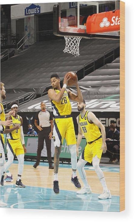 Nba Pro Basketball Wood Print featuring the photograph Jeremy Lamb by Kent Smith