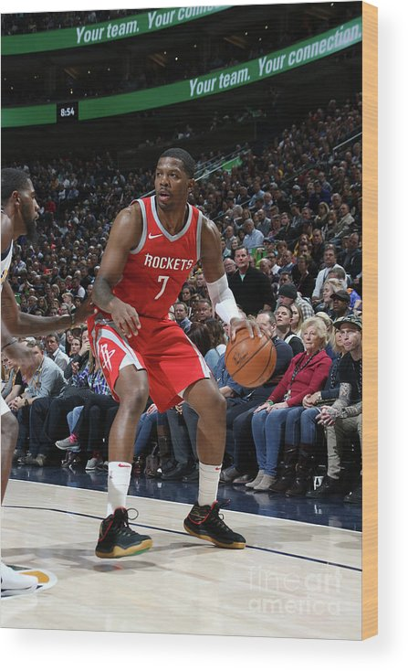 Nba Pro Basketball Wood Print featuring the photograph Joe Johnson by Melissa Majchrzak