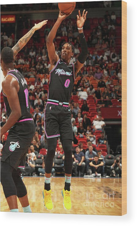 Nba Pro Basketball Wood Print featuring the photograph Josh Richardson by Oscar Baldizon