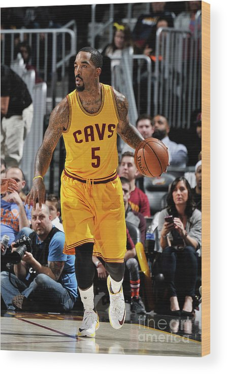 Nba Pro Basketball Wood Print featuring the photograph J.r. Smith by David Liam Kyle