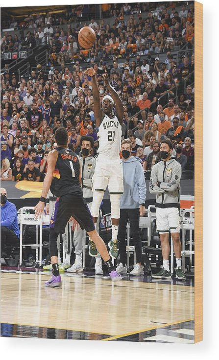Playoffs Wood Print featuring the photograph Jrue Holiday by Andrew D. Bernstein
