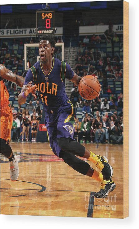 Smoothie King Center Wood Print featuring the photograph Jrue Holiday by Layne Murdoch
