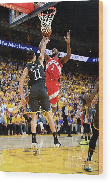 Playoffs Wood Print featuring the photograph Kawhi Leonard by Andrew D. Bernstein