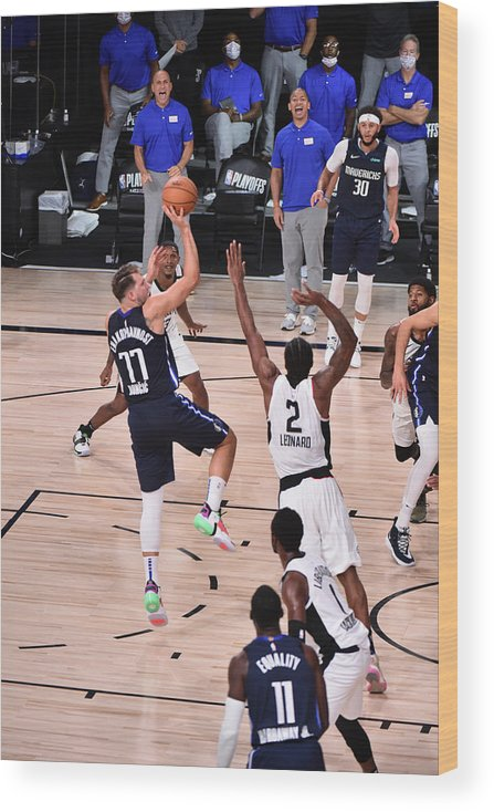 Playoffs Wood Print featuring the photograph Kawhi Leonard by David Dow