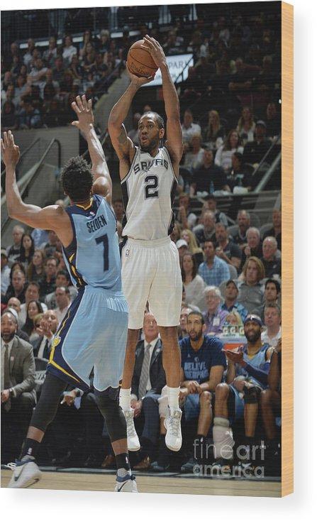 Playoffs Wood Print featuring the photograph Kawhi Leonard by Mark Sobhani
