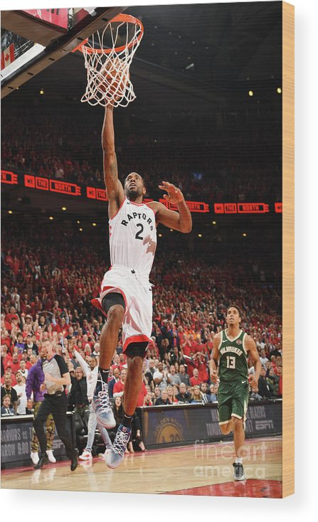 Playoffs Wood Print featuring the photograph Kawhi Leonard by Ron Turenne