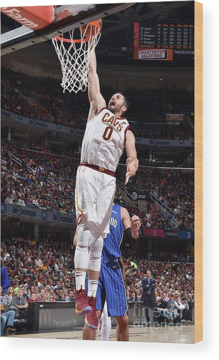 Nba Pro Basketball Wood Print featuring the photograph Kevin Love by David Liam Kyle