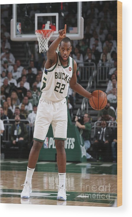 Playoffs Wood Print featuring the photograph Khris Middleton by Gary Dineen