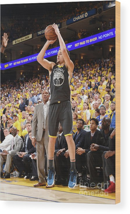Playoffs Wood Print featuring the photograph Klay Thompson by Andrew D. Bernstein