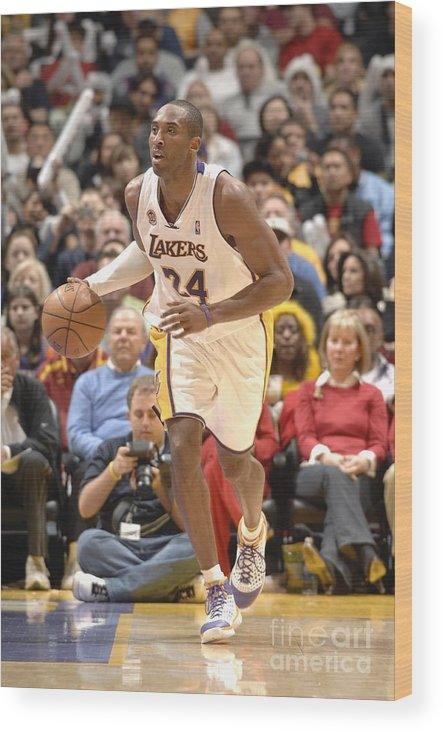 Nba Pro Basketball Wood Print featuring the photograph Kobe Bryant by Noah Graham