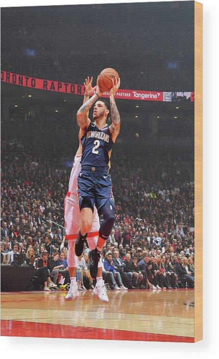 Nba Pro Basketball Wood Print featuring the photograph Lonzo Ball by Jesse D. Garrabrant