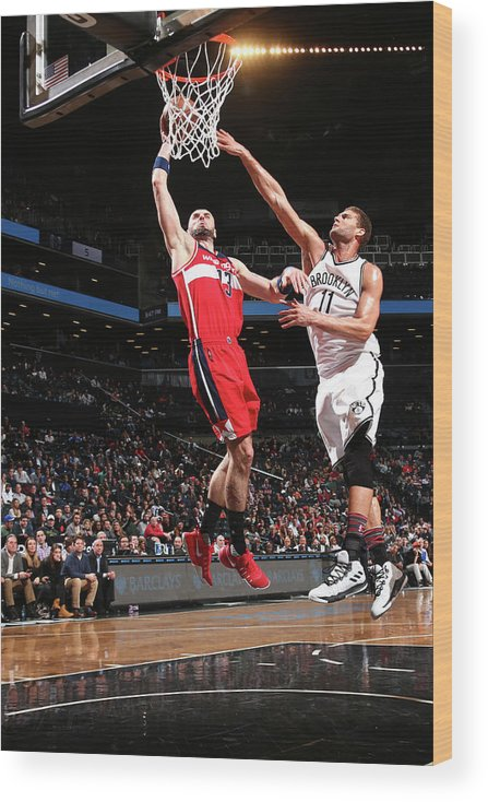 Nba Pro Basketball Wood Print featuring the photograph Marcin Gortat by Ned Dishman