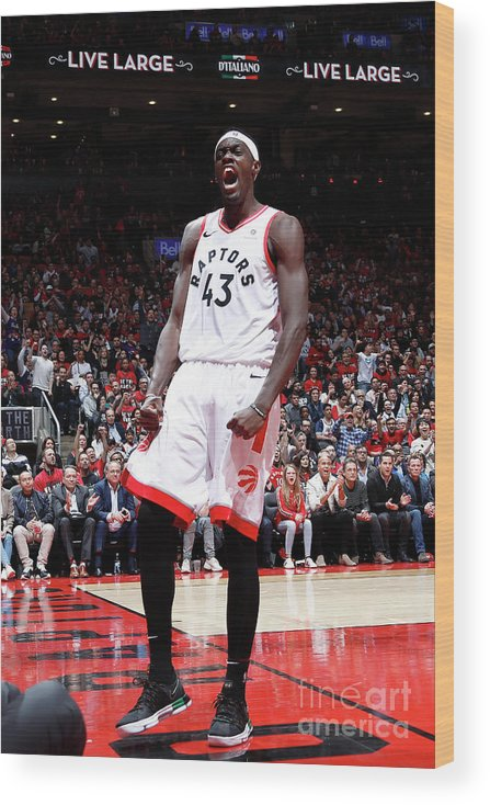 Playoffs Wood Print featuring the photograph Pascal Siakam by Mark Blinch