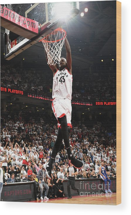 Playoffs Wood Print featuring the photograph Pascal Siakam by Ron Turenne