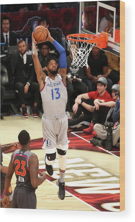 Event Wood Print featuring the photograph Paul George by Layne Murdoch