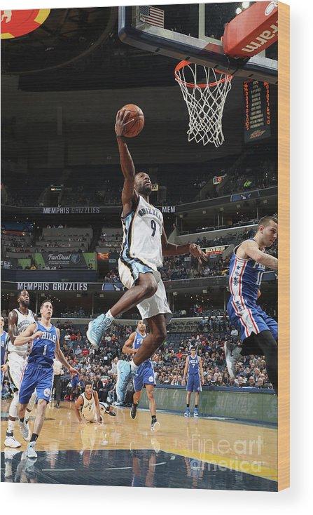 Nba Pro Basketball Wood Print featuring the photograph Tony Allen by Joe Murphy