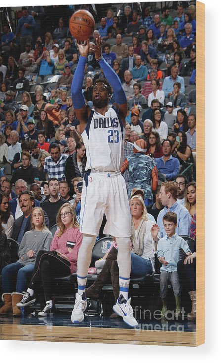 Nba Pro Basketball Wood Print featuring the photograph Wesley Matthews by Glenn James