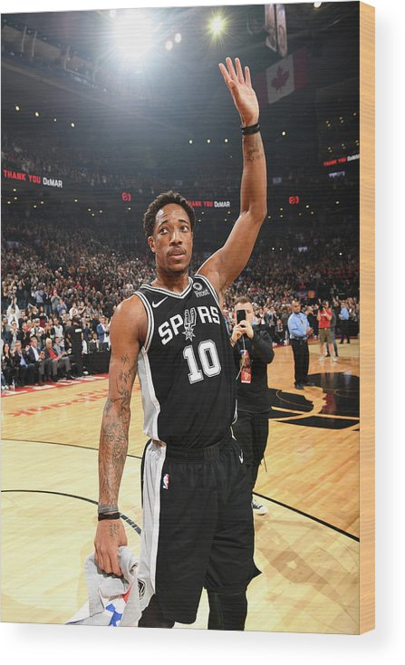 Thank You Wood Print featuring the photograph Demar Derozan by Ron Turenne
