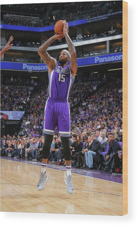 Nba Pro Basketball Wood Print featuring the photograph Demarcus Cousins by Rocky Widner