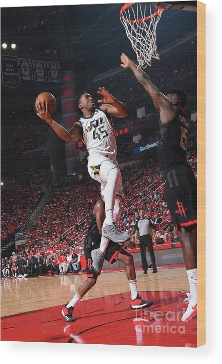 Playoffs Wood Print featuring the photograph Donovan Mitchell by Andrew D. Bernstein