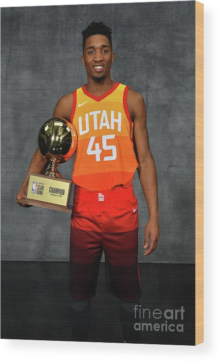 Nba Pro Basketball Wood Print featuring the photograph Donovan Mitchell by Jesse D. Garrabrant