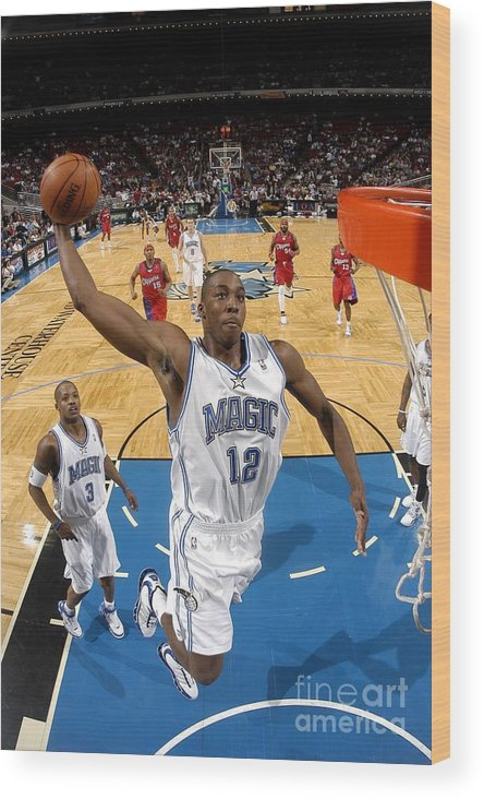 Nba Pro Basketball Wood Print featuring the photograph Dwight Howard by Fernando Medina