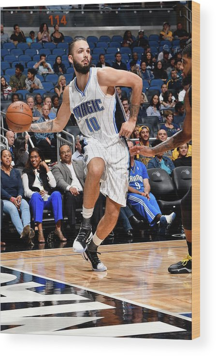 Nba Pro Basketball Wood Print featuring the photograph Evan Fournier by Fernando Medina