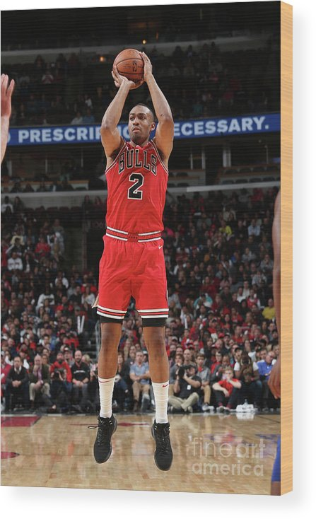 Nba Pro Basketball Wood Print featuring the photograph Jabari Parker by Gary Dineen