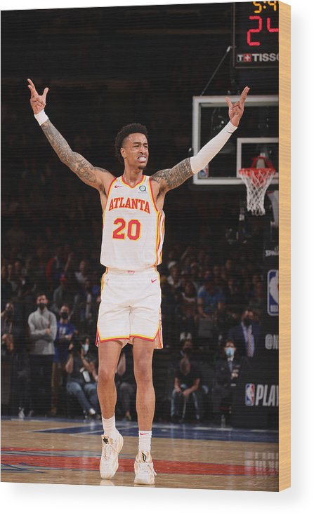 Playoffs Wood Print featuring the photograph John Collins by Nathaniel S. Butler