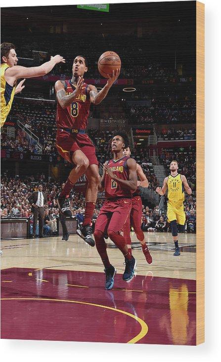 Nba Pro Basketball Wood Print featuring the photograph Jordan Clarkson by David Liam Kyle