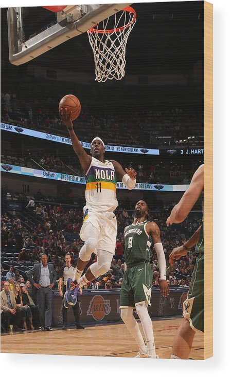 Smoothie King Center Wood Print featuring the photograph Jrue Holiday by Layne Murdoch Jr.