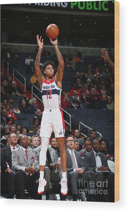 Nba Pro Basketball Wood Print featuring the photograph Kelly Oubre by Ned Dishman
