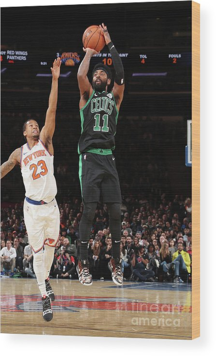 Nba Pro Basketball Wood Print featuring the photograph Kyrie Irving by Nathaniel S. Butler
