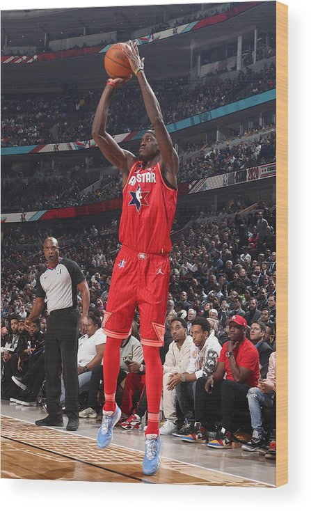 Nba Pro Basketball Wood Print featuring the photograph Pascal Siakam by Nathaniel S. Butler