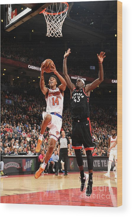 Nba Pro Basketball Wood Print featuring the photograph Pascal Siakam by Ron Turenne