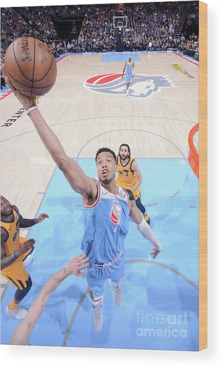 Nba Pro Basketball Wood Print featuring the photograph Skal Labissiere by Rocky Widner