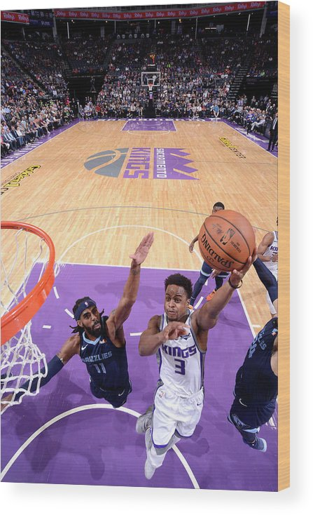 Nba Pro Basketball Wood Print featuring the photograph Yogi Ferrell by Rocky Widner