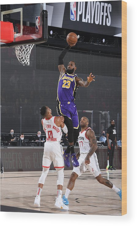 Playoffs Wood Print featuring the photograph Lebron James by Andrew D. Bernstein