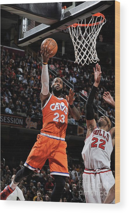 Nba Pro Basketball Wood Print featuring the photograph Lebron James by David Liam Kyle