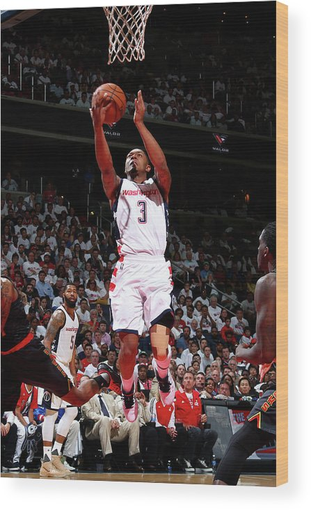 Playoffs Wood Print featuring the photograph Bradley Beal by Ned Dishman