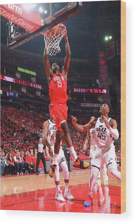 Playoffs Wood Print featuring the photograph Clint Capela by Bill Baptist