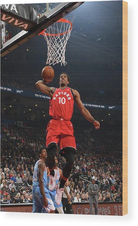 Nba Pro Basketball Wood Print featuring the photograph Demar Derozan by Ron Turenne