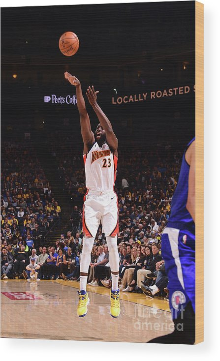 Nba Pro Basketball Wood Print featuring the photograph Draymond Green by Noah Graham