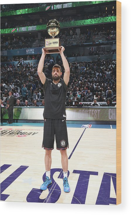 Nba Pro Basketball Wood Print featuring the photograph Joe Harris by Nathaniel S. Butler