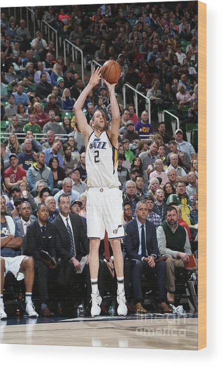 Nba Pro Basketball Wood Print featuring the photograph Joe Ingles by Melissa Majchrzak