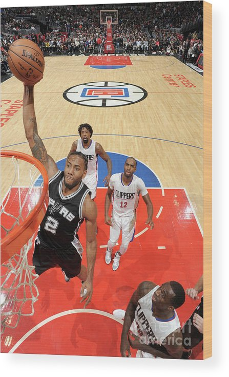Nba Pro Basketball Wood Print featuring the photograph Kawhi Leonard by Andrew D. Bernstein